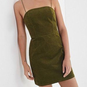 NWT urban outfitters moss green fitted dress 8